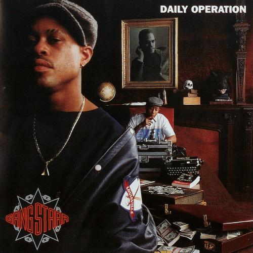 Gang Starr, Daily Operation, 1992. Im Hintergrund - der ausgestopfte ...