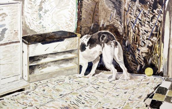 Scavenger Oil on canvas, 60 x 95cm 2016 © Chris Huen Sin Kan