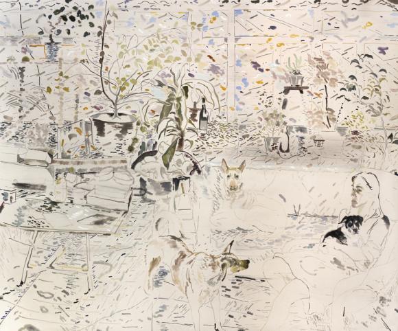 Mui Mui, Doodood, Balltsz and Haze Oil on canvas, 200 x 240cm 2016 © Chris Huen