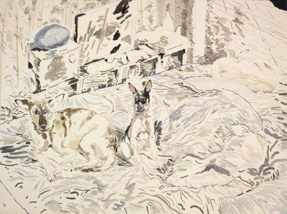 Mui Mui, Balltsz and Doodood Oil on canvas, 120 x 160cm 2016 © Chris Huen Sin Ka