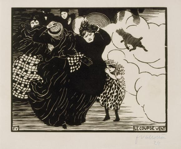 Félix Vallotton, Le Coup de Vent (Der Windstoß), 1894