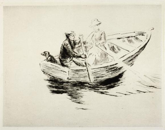 Max Liebermann, Im Kahn, 1917