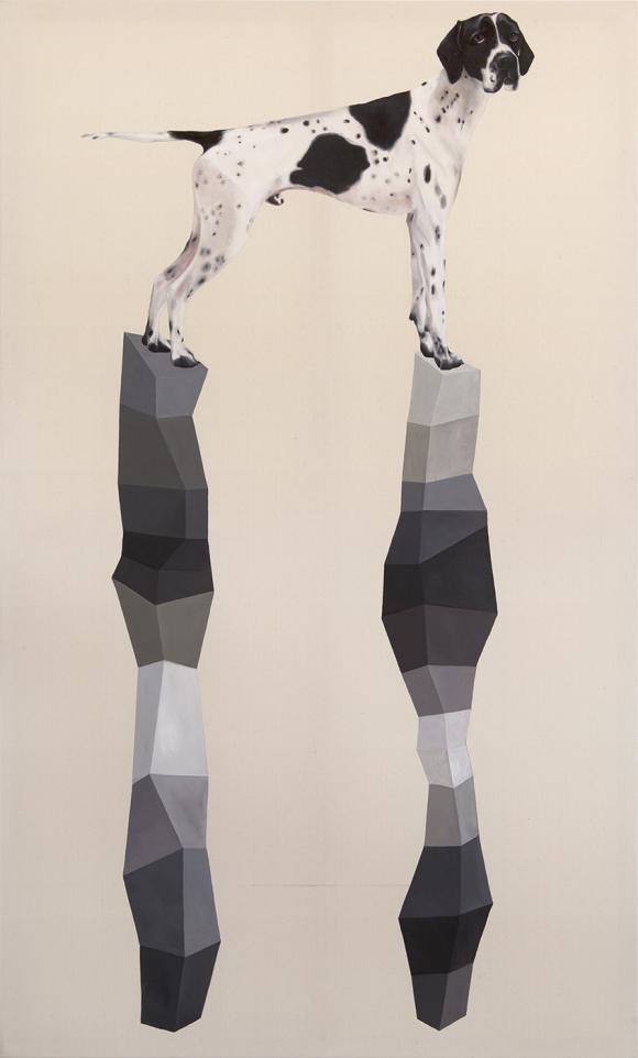 Annett Bienhaus, Nach Hause schwimmen, 2013, Öl auf Leinwand, 200 x 120 cm