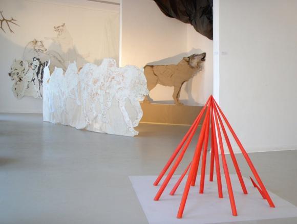 Installation in der Ausstellung