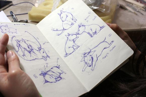 Skizzen für die Keramiken
