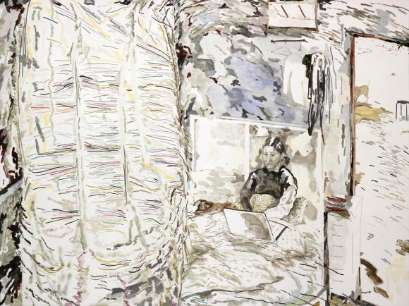 Haze and Mui Mui, 2014, oil on canvas, 120 x 160 cm © Chris Huen Sin Kan