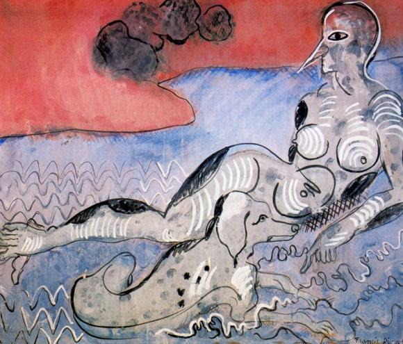 Francis Picabia, Le femme au chien