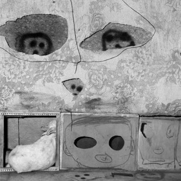 Roger Ballen, Boarding House, Caomouflaged, 2007