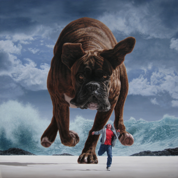Pursuit under silver skies, 2010 © Joel Rea