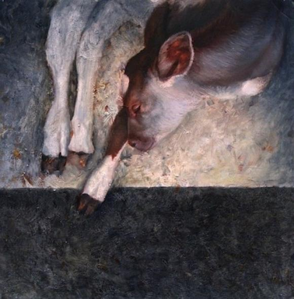 Bound, oil on board, 18 x 18 in, 2012 © Nicolas V. Sanchez