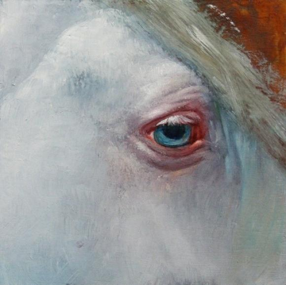 El Ojo, oil on panel, 6 x 6 in, 2014 © Nicolas V. Sanchez