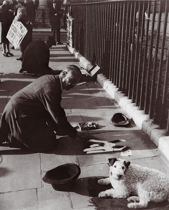AF Harris und sein Hund © George Lewis