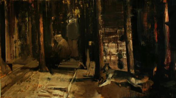 Adrian Ghenie, The Flight Into Egypt, 2008