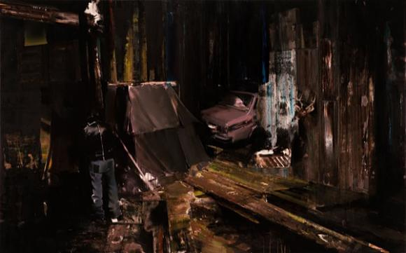 Adrian Ghenie, The Flight Into Egypt I, 2008