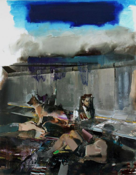 Adrian Ghenie, The Blue Rain, 2009