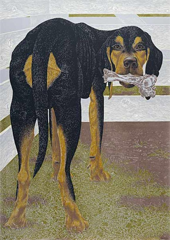 Alex Colville, Dog with Bone, 1961