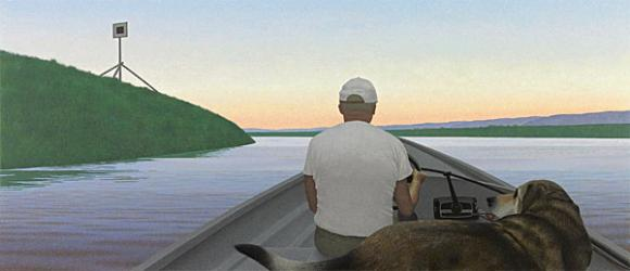 Alex Colville, On a River, 1996