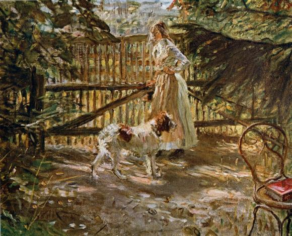 Fritz von Uhde, Am Gartenzaun, 1900