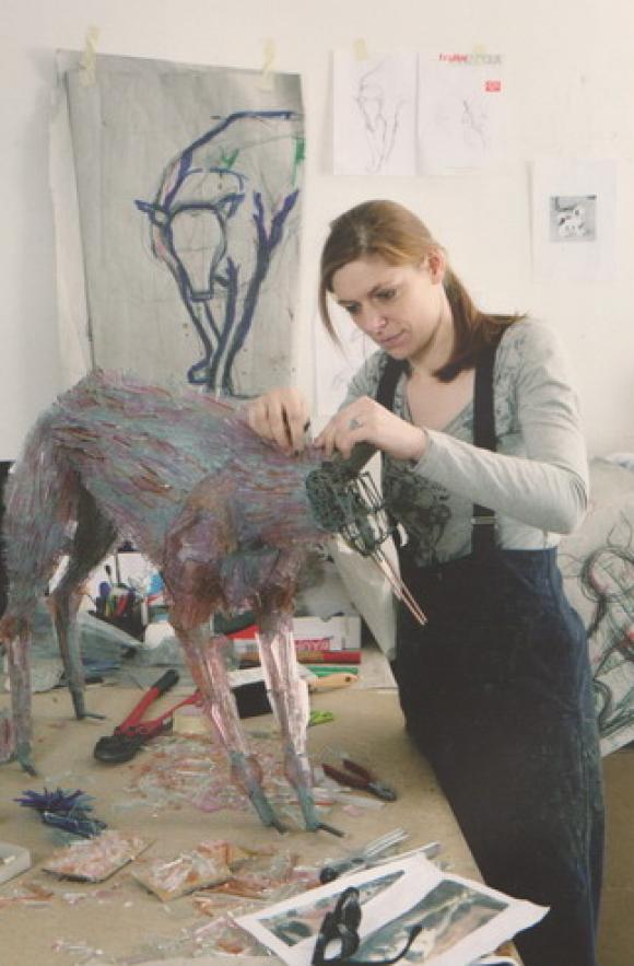 Marta Klonowska bei der Arbeit