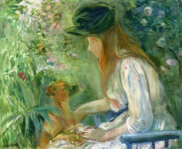Berthe Morisot, Jeune Fille au Chien, 1892