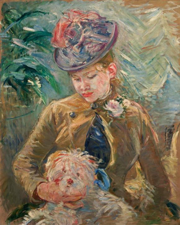 Berthe Morisot, Jeune Fille et Chien