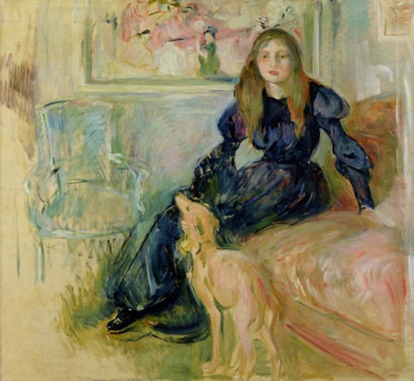 Berthe Morisot, Julie Manet et sa levrette Laerte, 1893