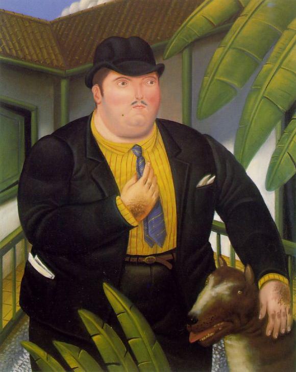 Botero - Hombre con Perro, 1989