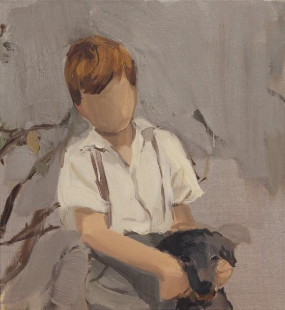 Boy with black dog, 2011 © Gideon Rubin