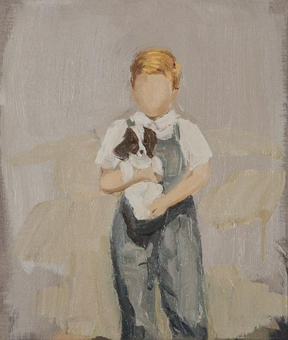 Boy with dog, 2011 © Gideon Rubin