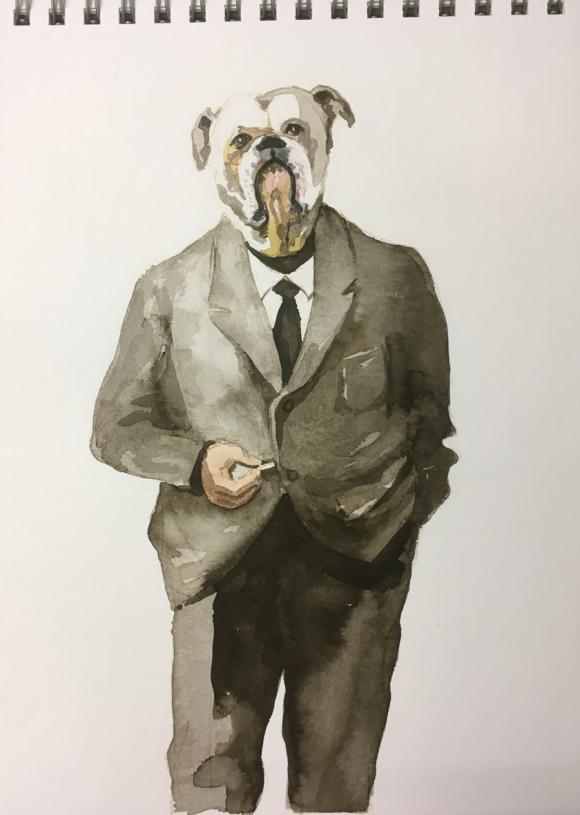 Bulldog Man, 2020 © Bärbel Rothhaar