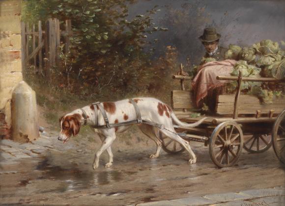 Carl Reichert, Auf dem Weg zum Markt, um 1918