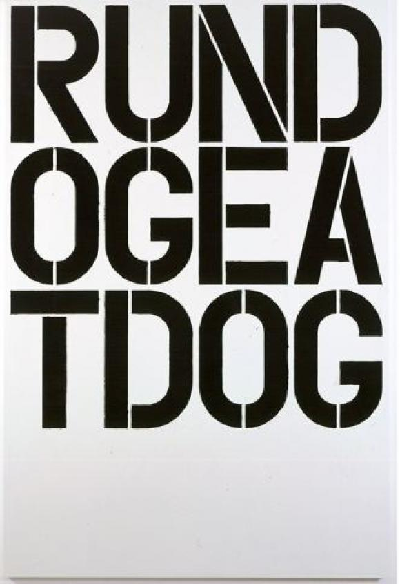 Christopher Wool, Untitled, 1990, Enamel on aluminum