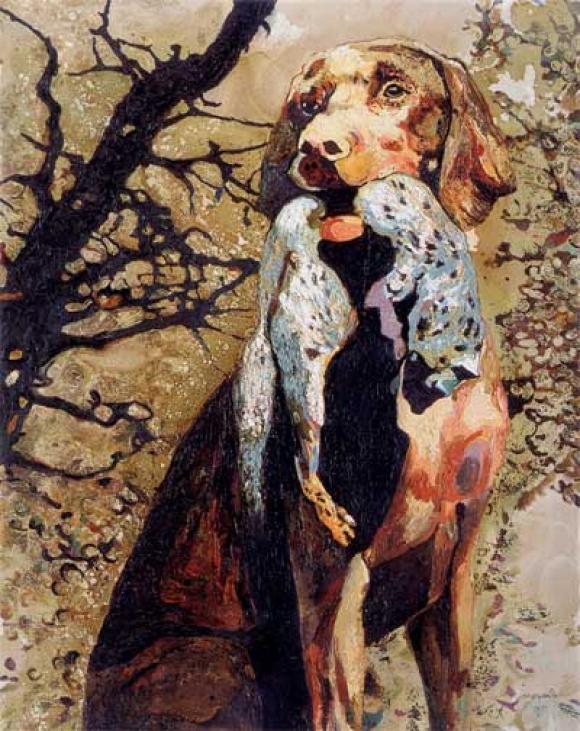 Cornelia Schleime, Obstfuchs, 2005