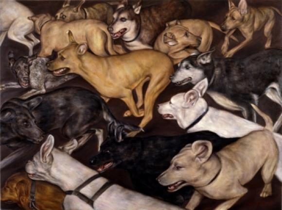 Running Dogs © Dan Witz