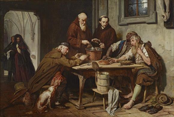 Josef Danhauser, Die Klostersuppe, 1838 © Belvedere, Wien