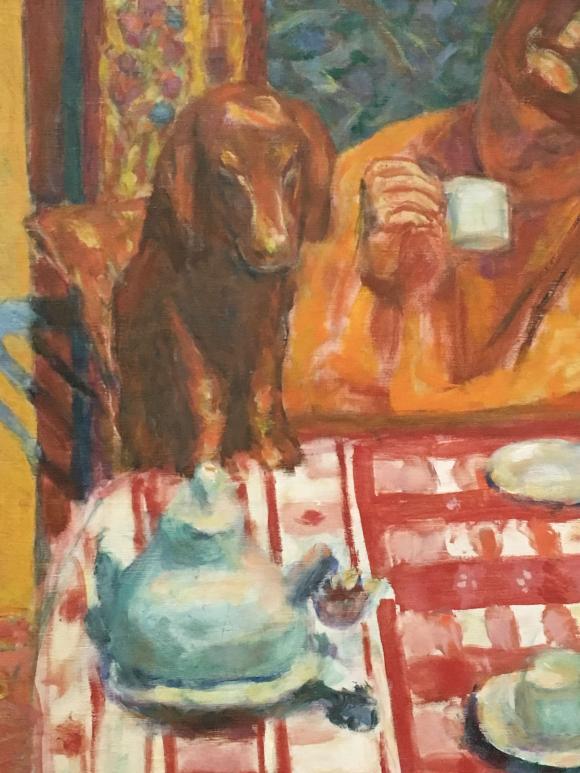 Pierre Bonnard, Der Kaffee, 1915, Detail, Foto Petra Hartl