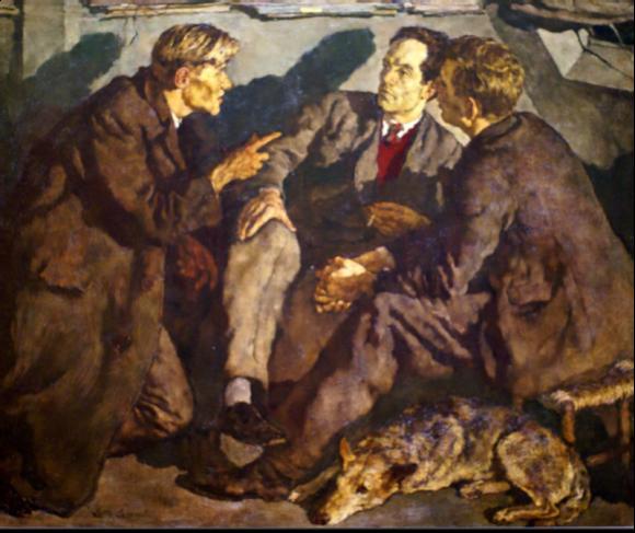 Die Unterhaltung, 1934 © Lotte Laserstein