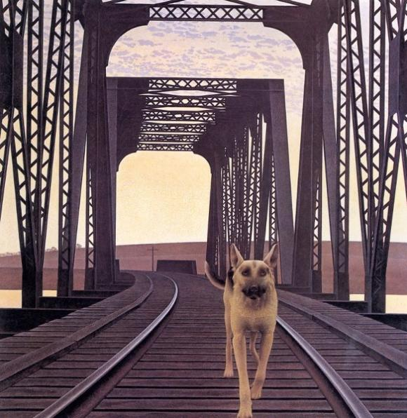 Alex Colville, Dog and Bridge