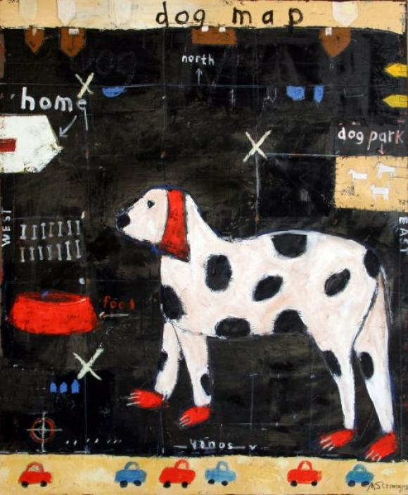 Dog Map © Mary Scrimgeour