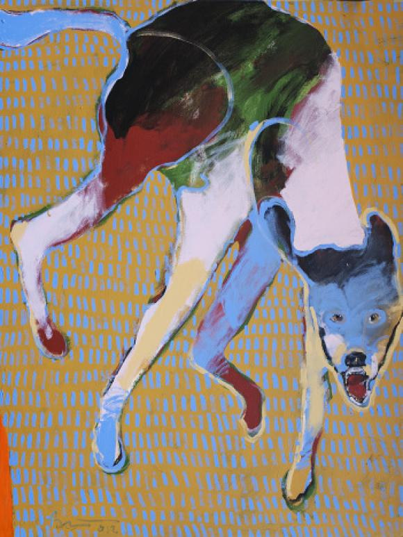 Dog Running, 2012 © Rick Bartow