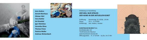 Einladung Kunstraum Neureut Der will nur spielen