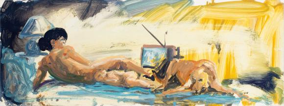 Eric Fischl,  Study for Floating Islands, 1985