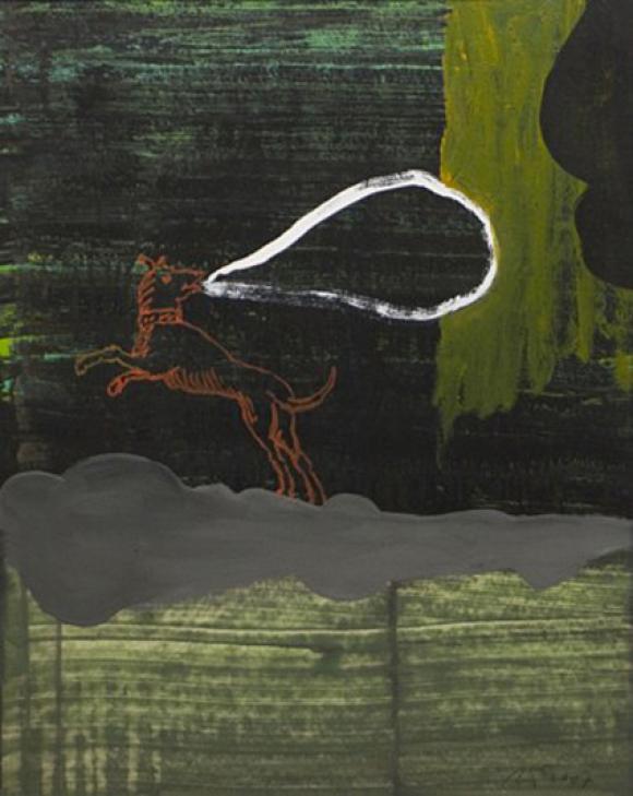 Fabel 3, 2007, Mischtechnik auf Papier, 50 x 40 cm © Felix Weinold