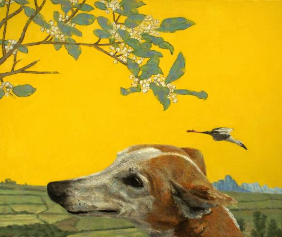 Fabian Jean, Dog and Heron