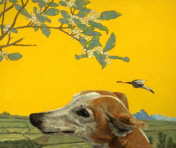 Fabian Jean, Dog and Heron