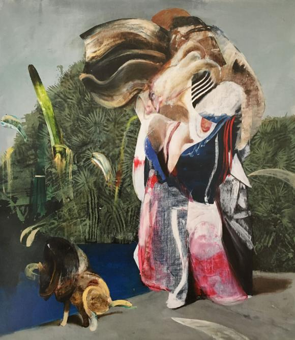 Figure with Dog, 2019 © Adrian Ghenie