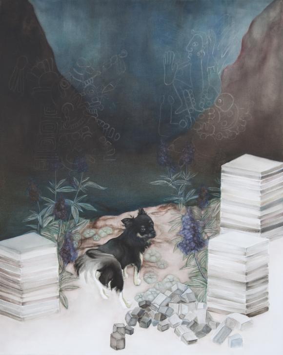 Follow me, Öl auf Leinwand, 100 x 80 cm, 2017