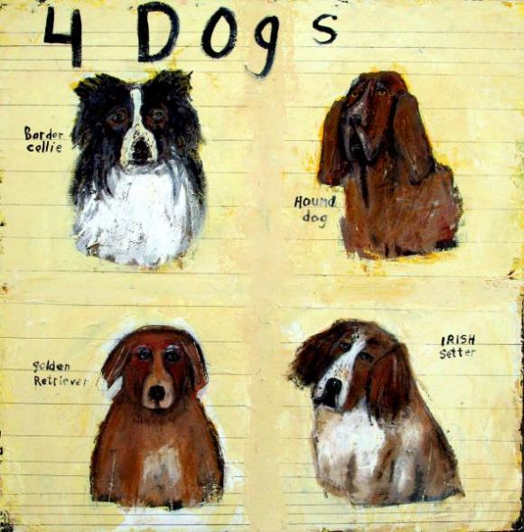 Four Dogs © Mary Scrimgeour
