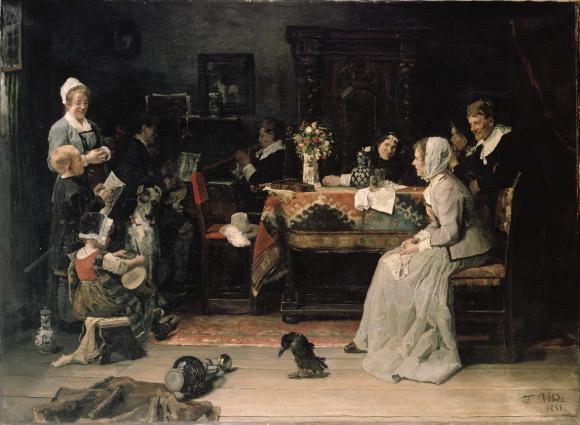 Fritz von Uhde, Familienkonzert, 1881 © Wallraf Richartz Museum