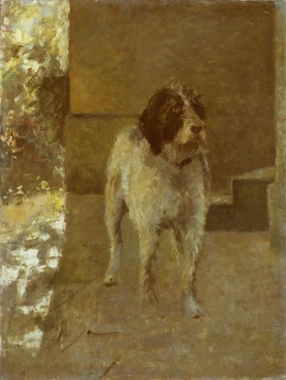 Fritz von Uhde, Der Hund Kitsch © Lindenau-Museum Altenburg